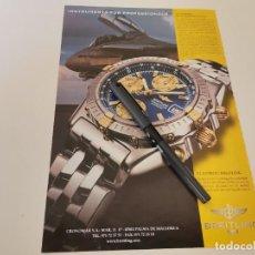 Relojes- Breitling: RELOJ BREITLING 1884 CRONOMAR PALMA DE MALLORCA ANUNCIO PUBLICIDAD REVISTA 2001. Lote 243016090