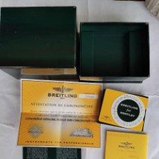 Relojes- Breitling: CAJA CARTON DEL RELOJ BREITLING MAS PAPELES Y CERTIFICADO.. Lote 245645665