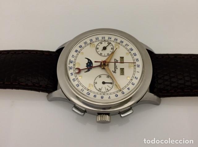 Relojes- Breitling: BREITLING VINTAGE CRONO TRIPLE CALENDARIO FASE DE LUNA - Foto 2 - 253756380