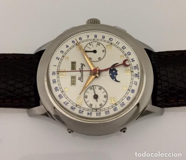 Relojes- Breitling: BREITLING VINTAGE CRONO TRIPLE CALENDARIO FASE DE LUNA - Foto 3 - 253756380