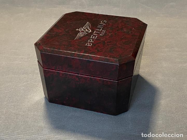 Relojes- Breitling: caja de reloj BREITLING , bakeliite , en buen estado y vacía - Foto 8 - 264810299