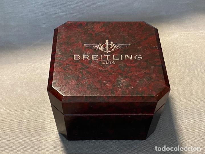 CAJA DE RELOJ BREITLING , BAKELIITE , EN BUEN ESTADO Y VACÍA (Relojes - Relojes Actuales - Breitling)