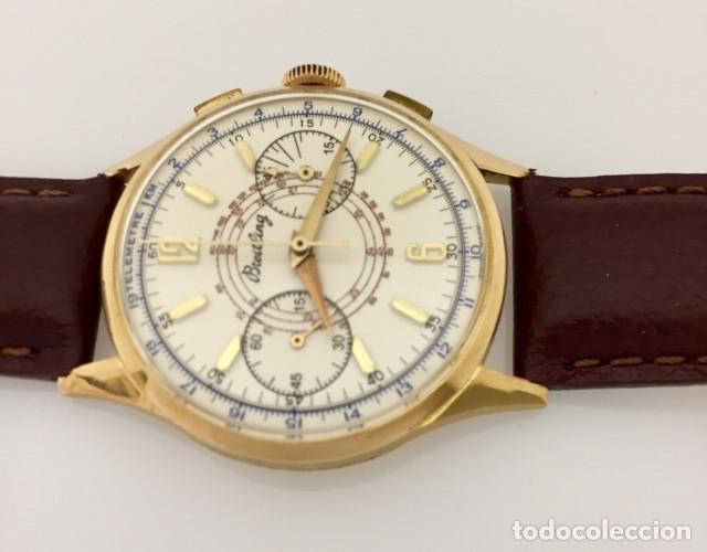 Relojes- Breitling: BREITLING ORO 18KTS.CRONO C.1940-45 - Foto 2 - 265866254