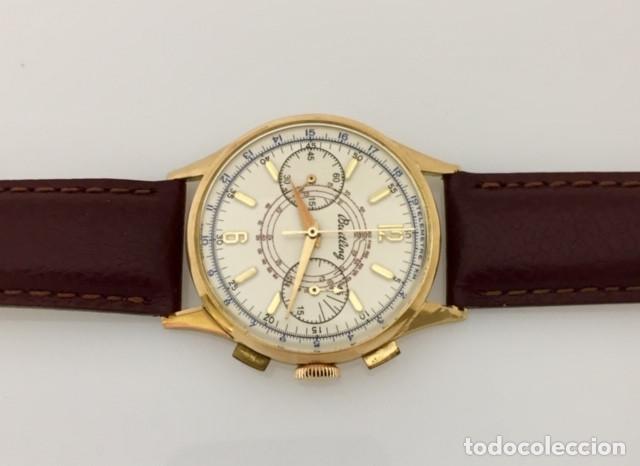 Relojes- Breitling: BREITLING ORO 18KTS.CRONO C.1940-45 - Foto 4 - 265866254
