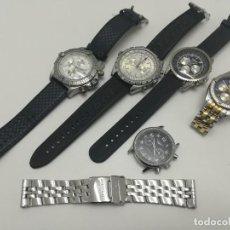 Relojes- Breitling: LOTE DE 5 RELOJES BREITLING, LONGINES.. RÉPLICAS. PARA REVISAR, ALGUNOS SE MUEVEN, OTROS NO.. Lote 268831499