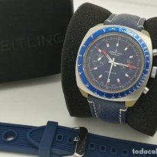 Relojes- Breitling: RELOJ DE CUERDA BREITLING SPRINT CRONÓGRAFO AZUL VALJOUX 7733 DE 1970'S REF. 2016 DE SEGUNDA MANO. Lote 275309258