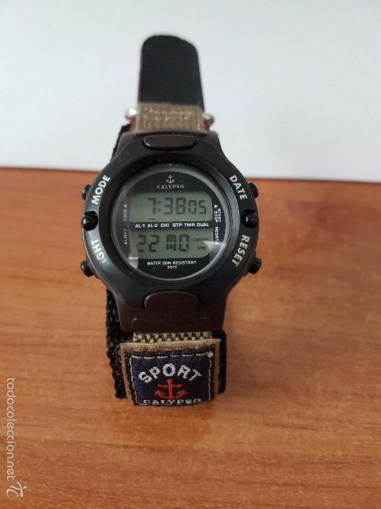Relojes - Calypso: Reloj de caballero de cuarzo digital marca Calypso multifunción con correa de velcro, para su uso - Foto 2 - 58707284