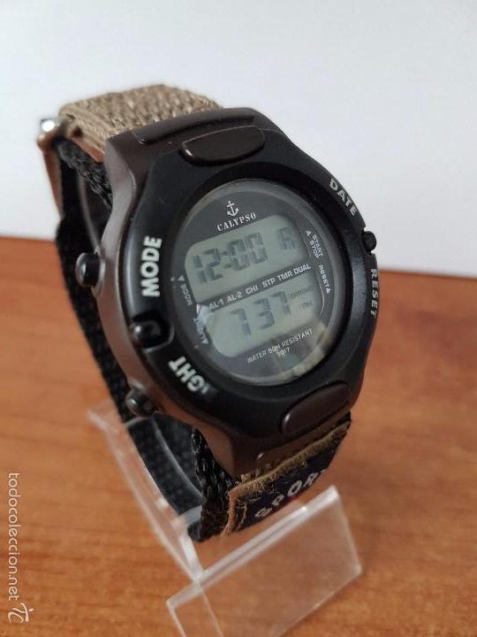 Relojes - Calypso: Reloj de caballero de cuarzo digital marca Calypso multifunción con correa de velcro, para su uso - Foto 6 - 58707284