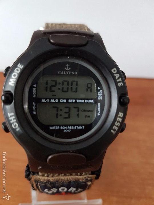 Relojes - Calypso: Reloj de caballero de cuarzo digital marca Calypso multifunción con correa de velcro, para su uso - Foto 8 - 58707284