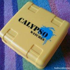 Relojes - Calypso: CAJA PLÁSTICO AMARILLA RELOJ CALYPSO WATCH . Lote 75787867