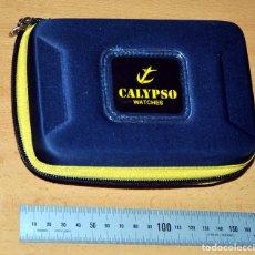 Relojes - Calypso: ESTUCHE EN TELA Y CREMALLERA + MANUAL DE INSTRUCCIONES - RELOJ CALYPSO - EL QUE SE VE EN IMÁGENES. Lote 77634265