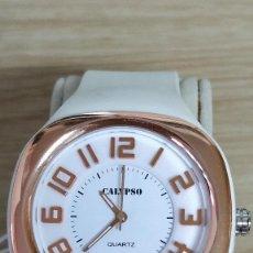 Relojes - Calypso: RELOJ CALIPSO BLANCO ROSA/DORADO MUJER.. Lote 129418247