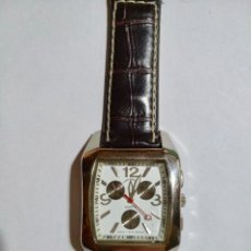 Relojes - Calypso: LOUIS VALENTIN 38X38 M/M.-C/C.- SEGUNDERO, QUARTZ,CRISTAL MINERAL, ACERO CROMADO.. Lote 131939210