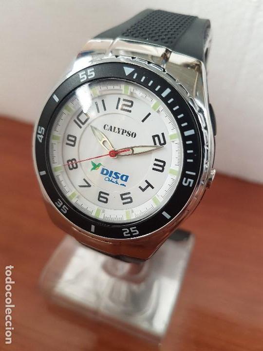 Relojes - Calypso: Reloj caballero cuarzo CALYPSO acero y silicona con correa de silicona original Calypso edición DISA - Foto 2 - 144546962