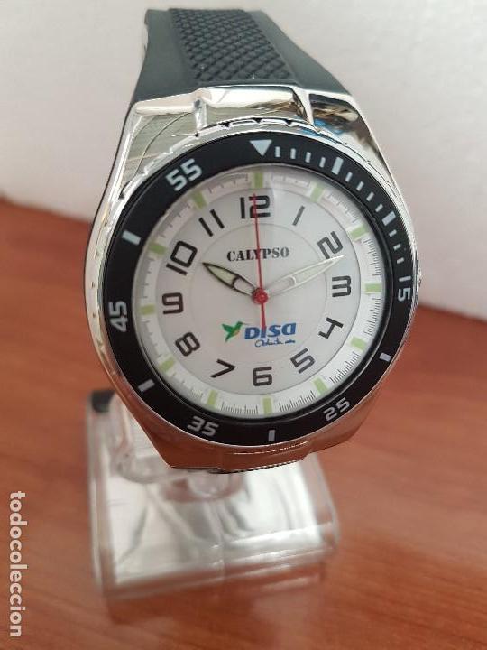 Relojes - Calypso: Reloj caballero cuarzo CALYPSO acero y silicona con correa de silicona original Calypso edición DISA - Foto 4 - 144546962
