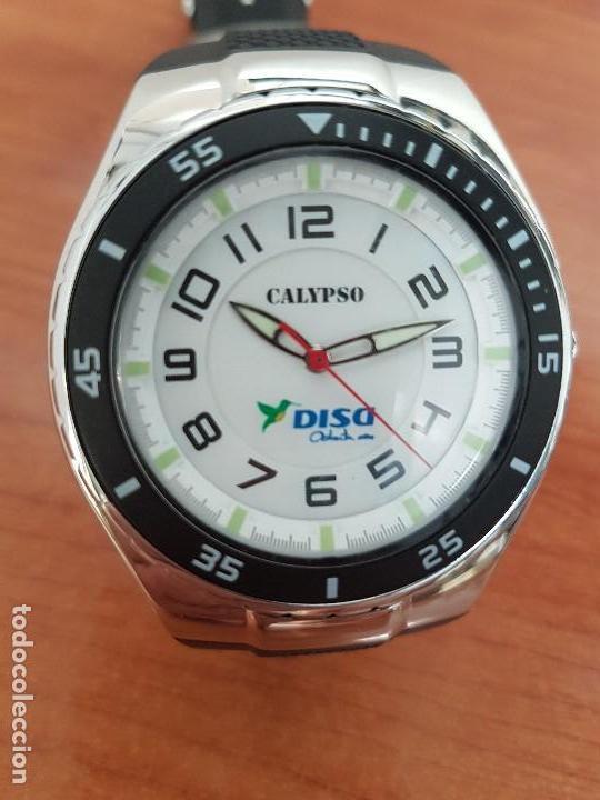 Relojes - Calypso: Reloj caballero cuarzo CALYPSO acero y silicona con correa de silicona original Calypso edición DISA - Foto 5 - 144546962
