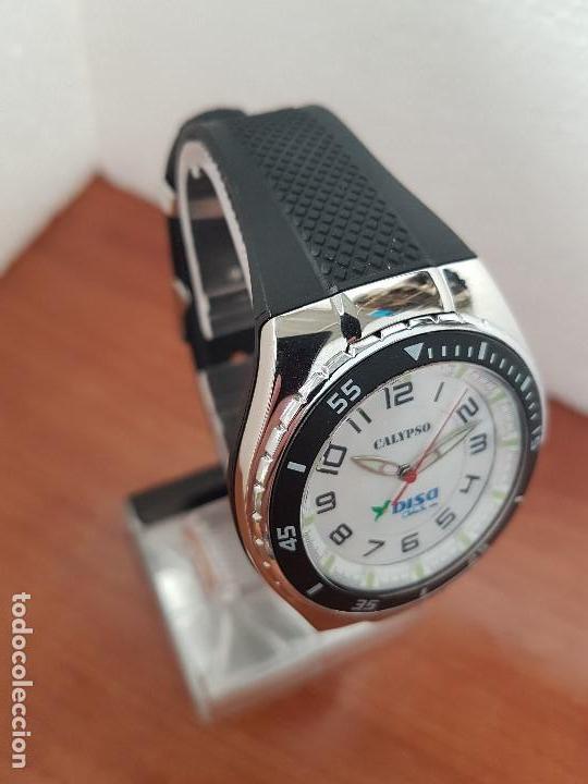 Relojes - Calypso: Reloj caballero cuarzo CALYPSO acero y silicona con correa de silicona original Calypso edición DISA - Foto 9 - 144546962