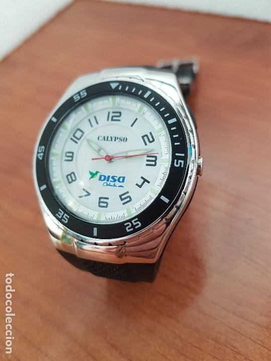 Relojes - Calypso: Reloj caballero cuarzo CALYPSO acero y silicona con correa de silicona original Calypso edición DISA - Foto 10 - 144546962