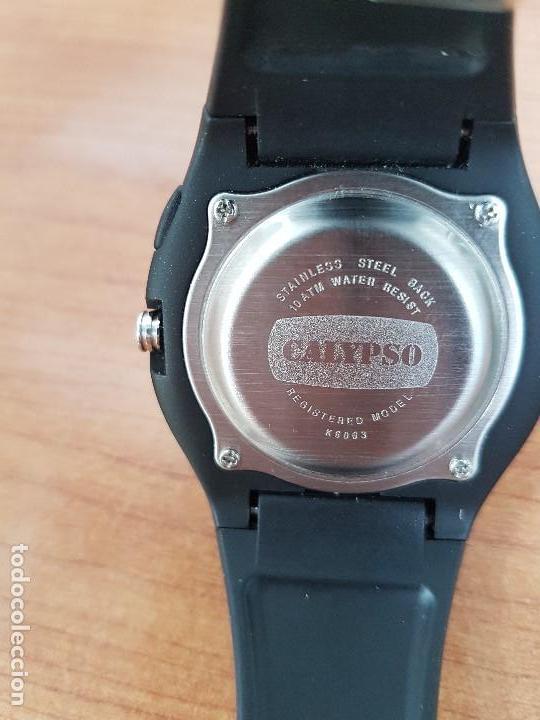 Relojes - Calypso: Reloj caballero cuarzo CALYPSO acero y silicona con correa de silicona original Calypso edición DISA - Foto 17 - 144546962