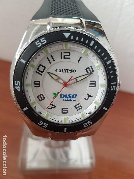 RELOJ CABALLERO CUARZO CALYPSO ACERO Y SILICONA CON CORREA DE SILICONA ORIGINAL CALYPSO EDICIÓN DISA (Relojes - Relojes Actuales - Calypso)