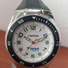 Relojes - Calypso: RELOJ CABALLERO CUARZO CALYPSO ACERO Y SILICONA CON CORREA DE SILICONA ORIGINAL CALYPSO EDICIÓN DISA. Lote 144546962