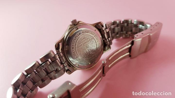 Relojes - Calypso: Reloj-CALYPSO-MUJER-30,7 MM CON CORONA-BUEN ESTADO GENERAL-CRISTAL CON ALGUNA RAYA-VER FOTOS - Foto 3 - 182551448
