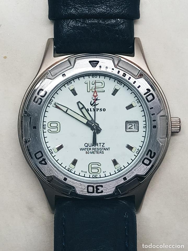 RELOJ CALYPSO - CALENDARIO Y QUARTZ. NUEVO. AGUA 50 METROS. 38.5 A RAS. DESCRIP. Y FOTOS. (Relojes - Relojes Actuales - Calypso)