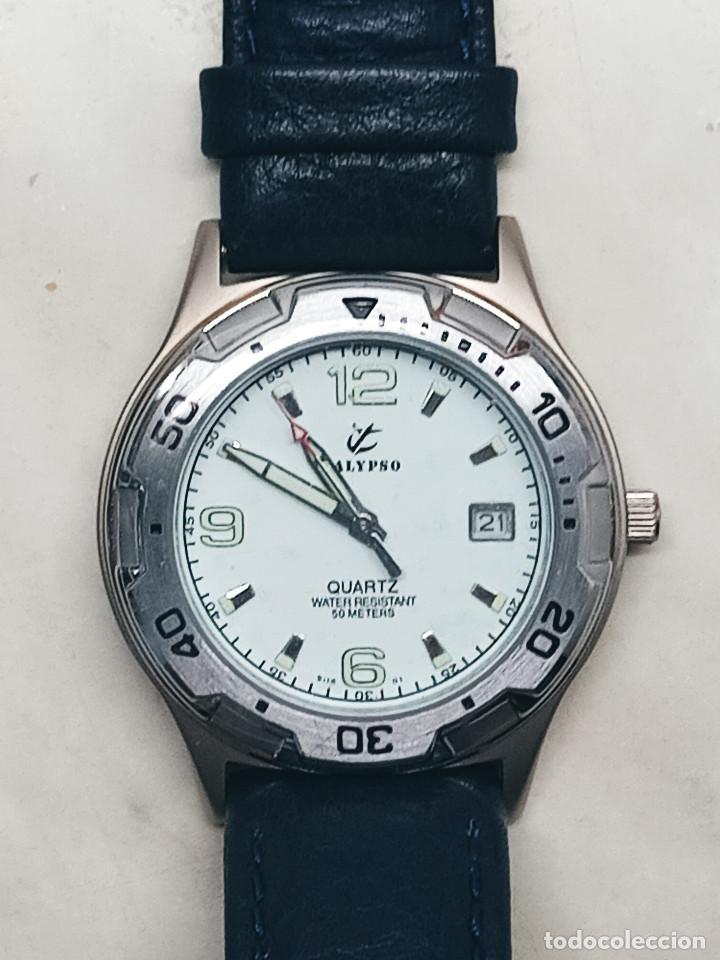 Relojes - Calypso: RELOJ CALYPSO - CALENDARIO Y QUARTZ. NUEVO. AGUA 50 METROS. 38.5 A RAS. DESCRIP. Y FOTOS. - Foto 2 - 253431670