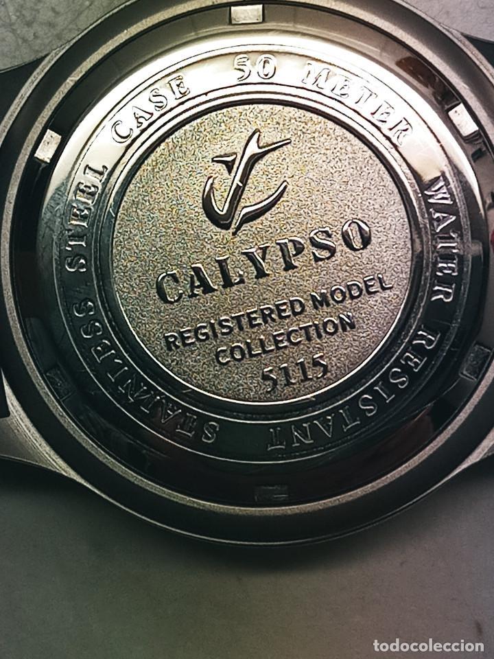 Relojes - Calypso: RELOJ CALYPSO - CALENDARIO Y QUARTZ. NUEVO. AGUA 50 METROS. 38.5 A RAS. DESCRIP. Y FOTOS. - Foto 6 - 253431670