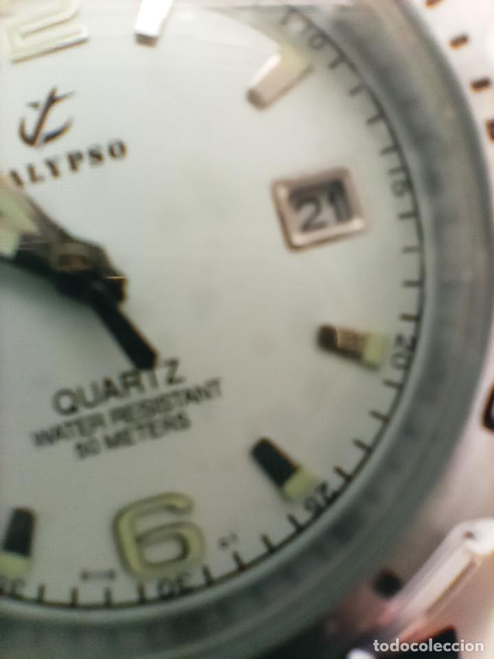 Relojes - Calypso: RELOJ CALYPSO - CALENDARIO Y QUARTZ. NUEVO. AGUA 50 METROS. 38.5 A RAS. DESCRIP. Y FOTOS. - Foto 7 - 253431670