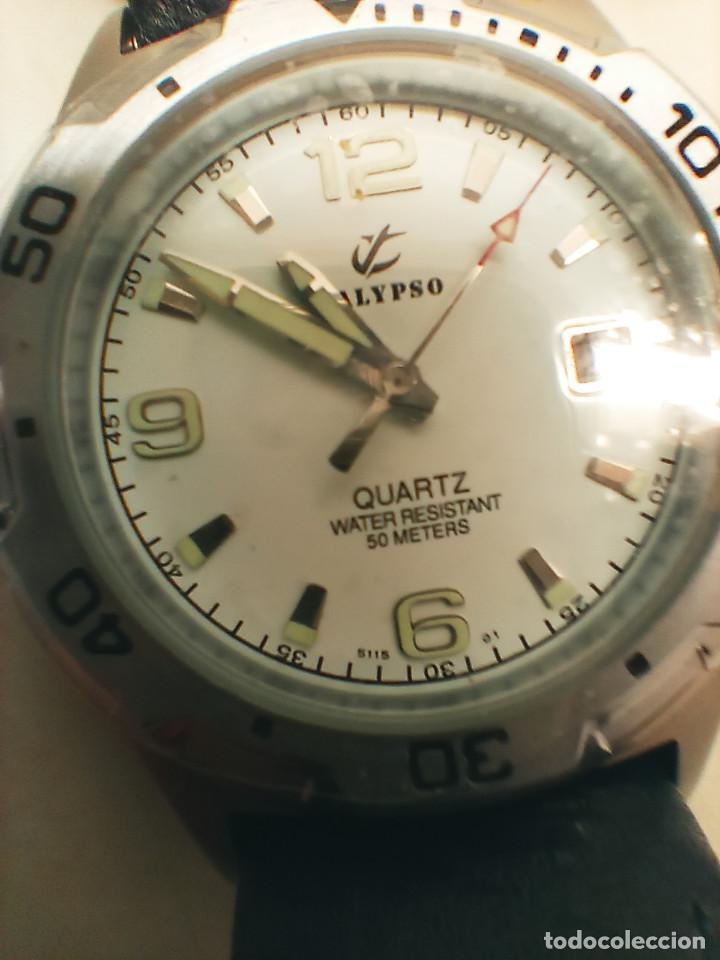 Relojes - Calypso: RELOJ CALYPSO - CALENDARIO Y QUARTZ. NUEVO. AGUA 50 METROS. 38.5 A RAS. DESCRIP. Y FOTOS. - Foto 8 - 253431670