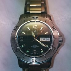 Relojes - Calypso: RELOJ CALYPSO. DOBLE CALENDARIO. IMPECABLE. ACERO CROMADO. 40 MM. A RAS SIN SALIENTES.. Lote 253439430