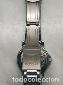 Relojes - Calypso: RELOJ CALYPSO. DOBLE CALENDARIO. IMPECABLE. ACERO CROMADO. 40 MM. A RAS SIN SALIENTES. - Foto 2 - 253439430