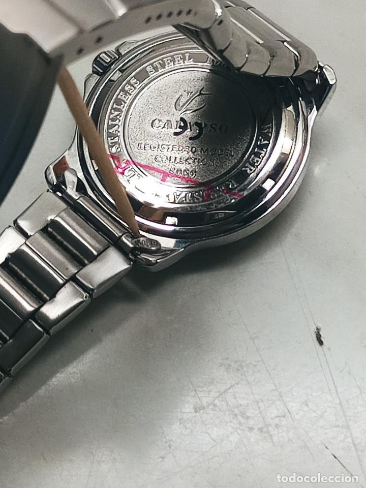 Relojes - Calypso: RELOJ CALYPSO. DOBLE CALENDARIO. IMPECABLE. ACERO CROMADO. 40 MM. A RAS SIN SALIENTES. - Foto 10 - 253439430