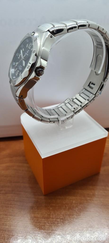 Relojes - Calypso: Reloj caballero de cuarzo CALYPSO en acero, esfera negra, calendario las tres, correa acero original - Foto 8 - 253819085