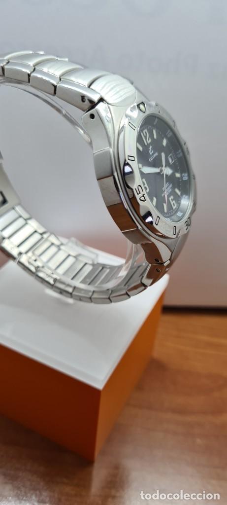 Relojes - Calypso: Reloj caballero de cuarzo CALYPSO en acero, esfera negra, calendario las tres, correa acero original - Foto 11 - 253819085