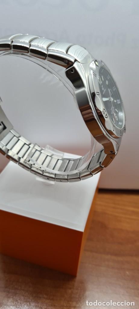 Relojes - Calypso: Reloj caballero de cuarzo CALYPSO en acero, esfera negra, calendario las tres, correa acero original - Foto 13 - 253819085
