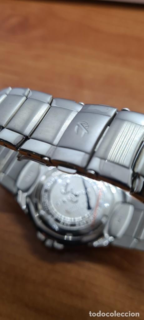 Relojes - Calypso: Reloj caballero de cuarzo CALYPSO en acero, esfera negra, calendario las tres, correa acero original - Foto 14 - 253819085