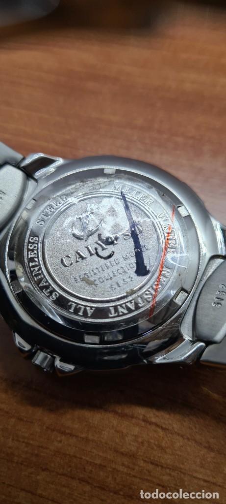 Relojes - Calypso: Reloj caballero de cuarzo CALYPSO en acero, esfera negra, calendario las tres, correa acero original - Foto 17 - 253819085