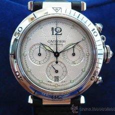 Relojes - Cartier: CARTIER PASHA CRONO VINTAGE AUTOMÁTICO SAFIRO --- ORIGINAL 100%. Lote 27580403