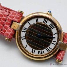 Relojes - Cartier: RELOJ CARTIER EN PLATA CON BAÑO DE ORO CUARZO CON SU ARMIS ORIGINAL PARA MUJER. Lote 56149000