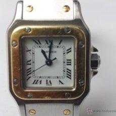 Relojes - Cartier - Antiguo Reloj SANTOS CARRE de Cartier de dama en acero y oro tamaño XL - 51559098
