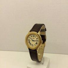 Relojes - Cartier: CARTIER RONDE 21-PLATA MACIZA LAMINADO ORO 18K 20 MICRONES. Lote 64588638