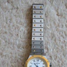 Relojes - Cartier: RELOJ CARTIER DE MUJER SANTOS RONDE NO ORIGINAL. Lote 90885195