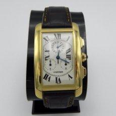 Relojes - Cartier: RELOJ CARTIER TANK AMERICAINE 18 KT GOLD CHRONOGRAPH. Lote 92040220