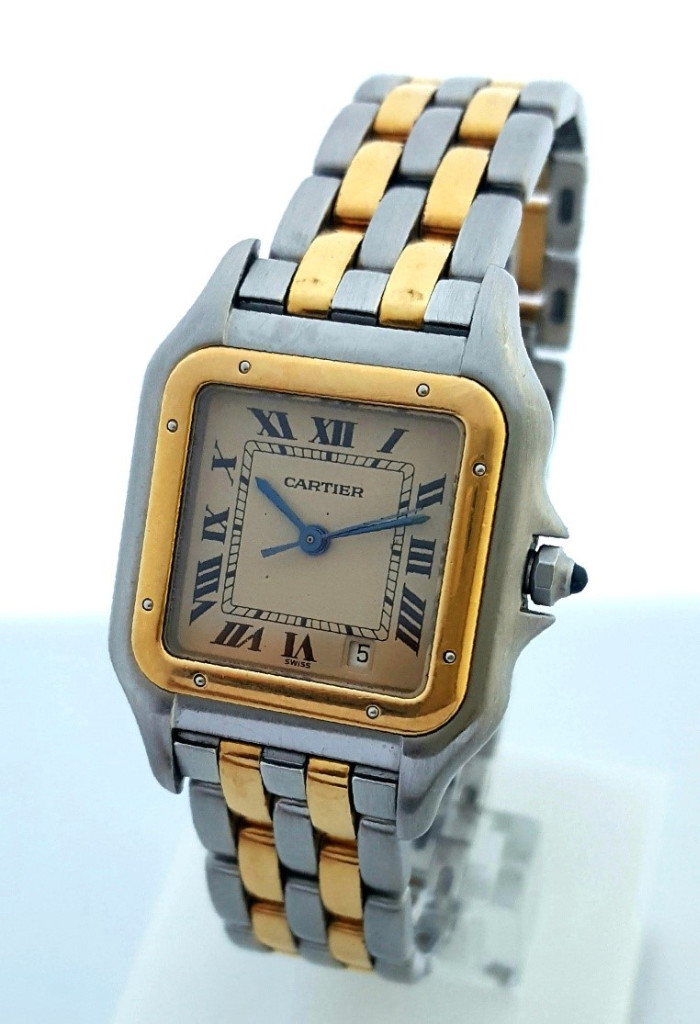 CARTIER PANTHERE DATE-ORO 18KT.ACERO-MUJER GRANDE ¡¡COMO NUEVO!! (Relojes - Relojes Actuales - Cartier)
