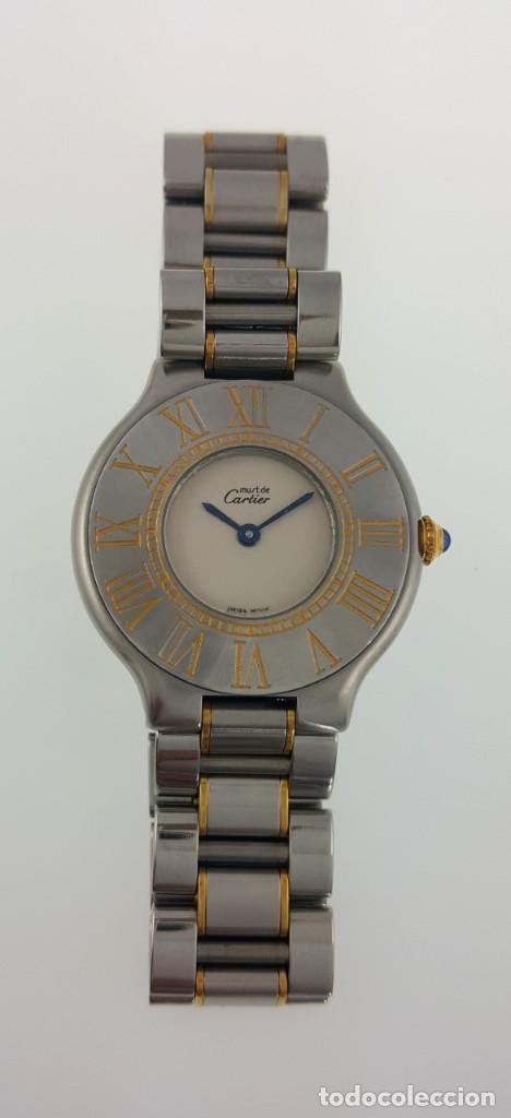 Relojes - Cartier: CARTIER MUST VANDOME-ACERO LAMINADO ORO 18K-MUJER-GRANDE ¡¡COMO NUEVO!! - Foto 2 - 104920127