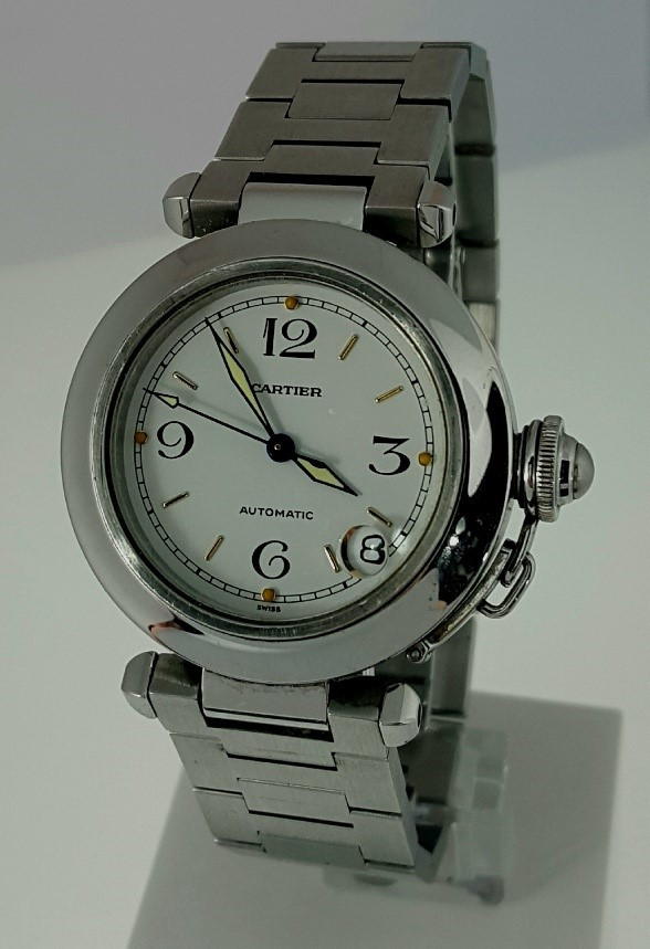CARTIER PASHA DATE ACERO ¡¡COMO NUEVO!! (Relojes - Relojes Actuales - Cartier)
