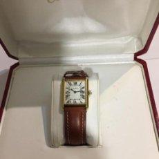 Reloj mus de Cartier carga manual y caja chapada oro con su caja y libro