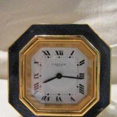 Relojes - Cartier: RELOJ - DESPERTADOR CARTIER DE SOBREMESA CON LAPISLAZULI - FUNCIONANDO. Lote 118885899